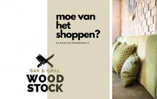 Woodstock moe van het shoppen